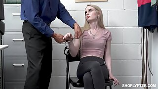 Overcharging cookie Emma Starletto is punished by unnatural security guy