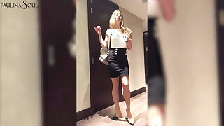Hot Secretary Undresses and Masturbate Pussy verification Work