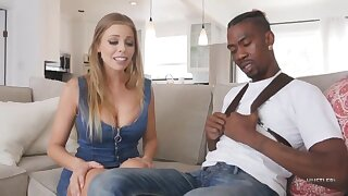 Stinking white girl drains black dick - Babe