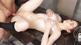 18 Videoz - Nasty - Teeny fucked by say no to plumber