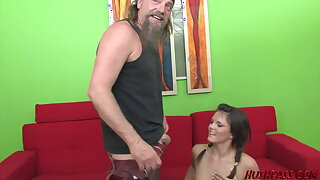 Slutty Teen Mackenzee Gets a Hard Be captivated by from an Older Dude