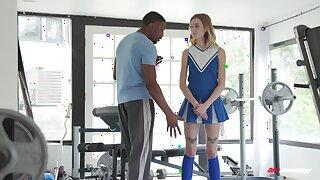 Hot teen cheerleader Haley Reed fucks say no to black tutor