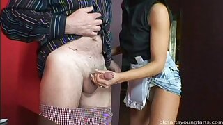 Grey guy with a stiff prick enjoys while Tereza rides him like a pro