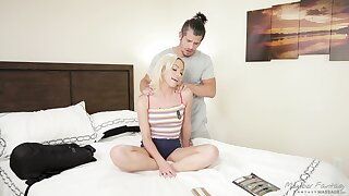 Slender blonde Khloe Kapri is flock love with new steady old-fashioned